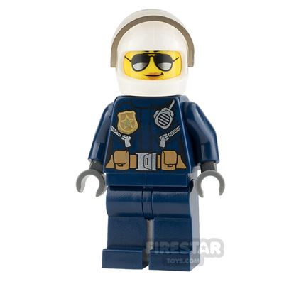 LEGO City Mini Figure - Helicopter Pilot - Female with Sunglasses