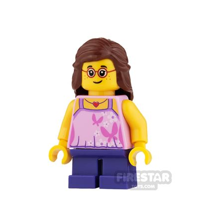LEGO City Mini Figure - Butterfly Top and Short Legs