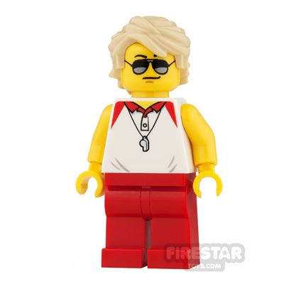 LEGO City Mini Figure - Lifeguard with Red Legs