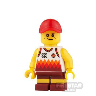 LEGO City Mini Figure - Basketball Top and Short Legs