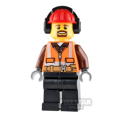 LEGO City Mini Figure - Cargo Center Worker - Male with Goatee