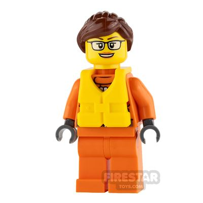 LEGO City Mini Figure - City Coast Guard - Female Raft Pilot