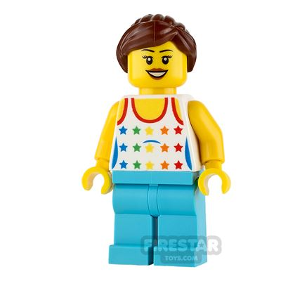 LEGO City Mini Figure - Female with Star Print Top