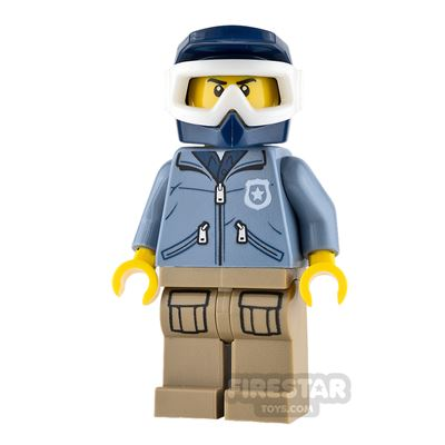 LEGO City Mini Figure - Mountain Police - Male Officer - Dirt Bike