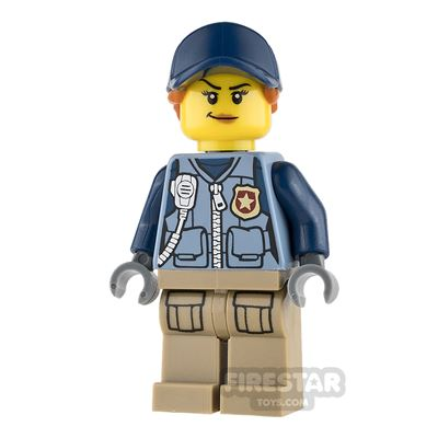 LEGO City Mini Figure - Mountain Police - Female Officer - Orange Ponytail
