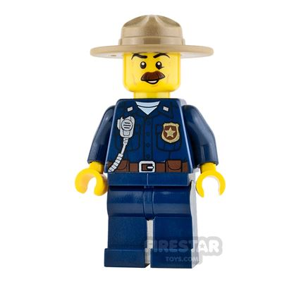 LEGO City Mini Figure - Mountain Police - Police Chief Male