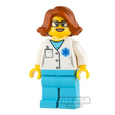 LEGO City Mini Figure - Doctor - Dark Orange Flicked Out Hair