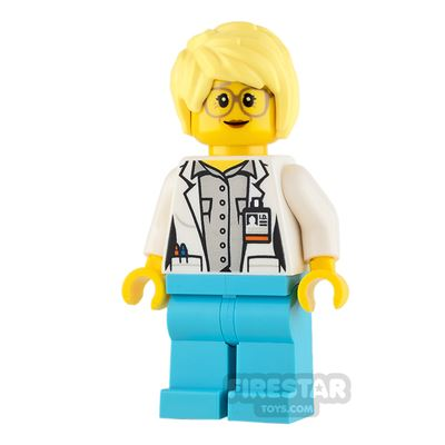 LEGO City Mini Figure - Scientist - Messy Hair