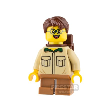 LEGO City Mini Figure - Safari Shirt and Round Glasses