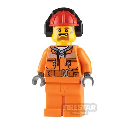 LEGO City Minifigure Male Construction Worker