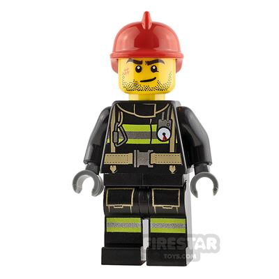LEGO City Minifigure Fireman with Beard Stubble