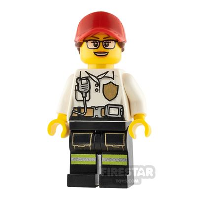 LEGO City Minifigure Firewoman with Badge