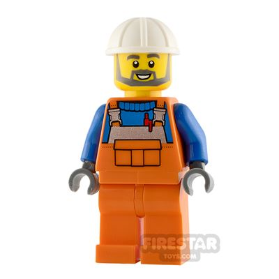 LEGO City Minifigure Construction Worker with Overalls