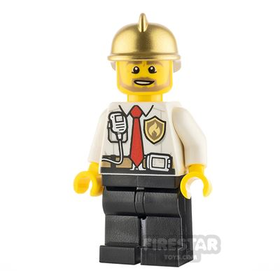 LEGO City Minifigure Fireman Shirt and Tie