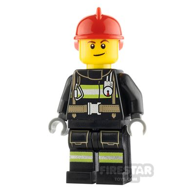 LEGO City Minifigure Fireman with Lopsided Smile