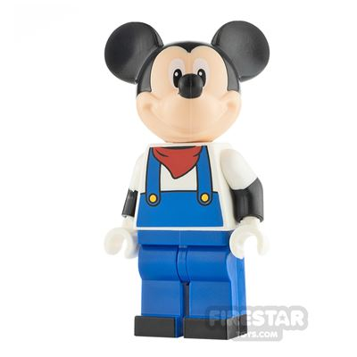 LEGO Disney Minifigure Mickey Mouse Blue Overalls