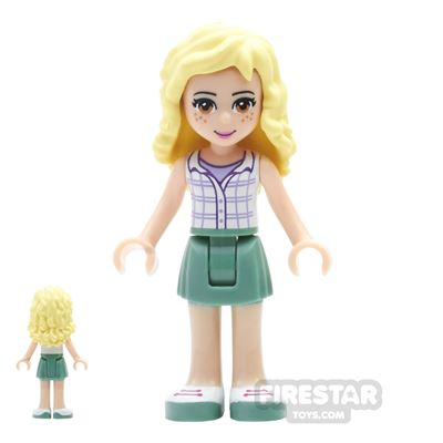LEGO Friends Mini Figure - Naya - Plaid Button Shirt