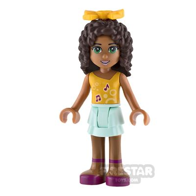 LEGO Friends Mini Figure - Andrea - Orange Top with Music Notes and Bow