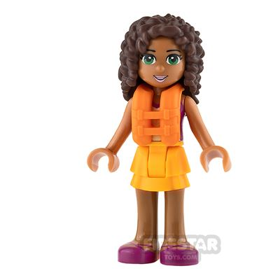 LEGO Friends Mini Figure - Andrea - Orange Life Jacket