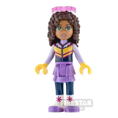 LEGO Friends Mini Figure - Andrea - Lavender Skirt and Ski Vest