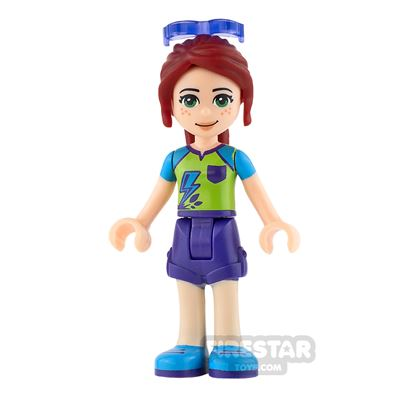LEGO Friends Minifigure Mia Purple Shorts and Lime Top