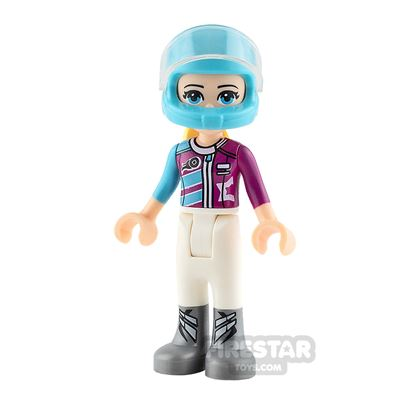 LEGO Friends Mini Figure - Stephanie - Magenta Racing Jacket
