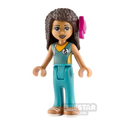 LEGO Friends Minifigure Andrea Dark Turquoise Wetsuit