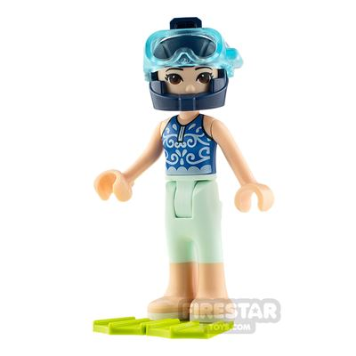 LEGO Friends Minifigure Emma Swimsuit with Flippers