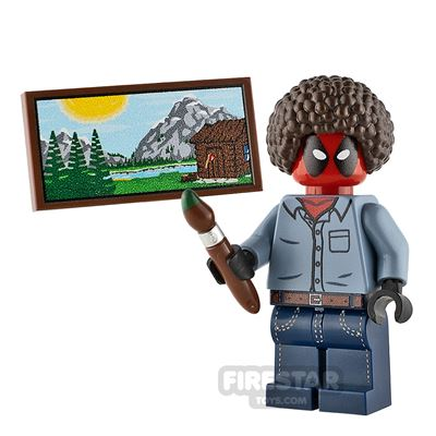 Custom Minifigure Deadpool Bob Ross
