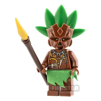 Custom Minifigure Tiki Warrior 1
