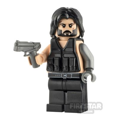 Custom Minifigure Cyberpunk 2077 Johnny Silverhand