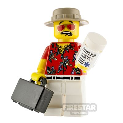 Custom Minifigure Fear and Loathing Hunter S. Thompson
