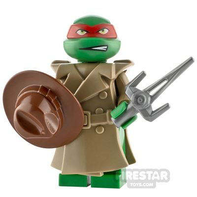 Custom Minifigure Turtle in a Trench Coat