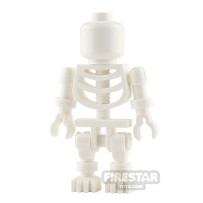 LEGO City Mini Figure - Skeleton - Blank Face