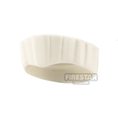 LEGO Hair - Flat Top with Straight Even Sections - White