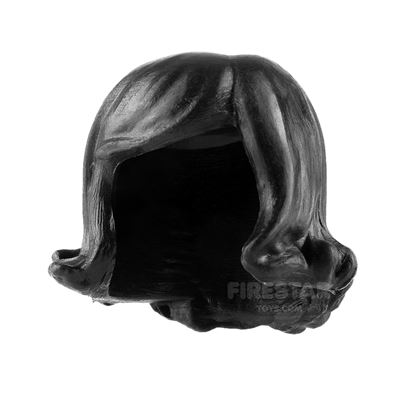 Minifigure Hair Short Flicked Out with Side Parting