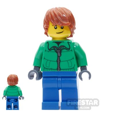 LEGO City Mini Figure – Green Winter Jacket