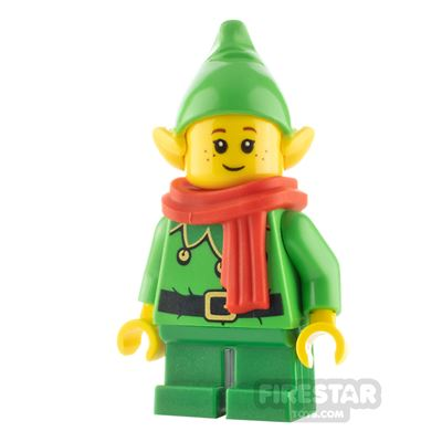 LEGO City Minifigure Elf Scalloped Collar and Freckles