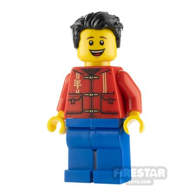LEGO City Minifigure Father with Red Shirt