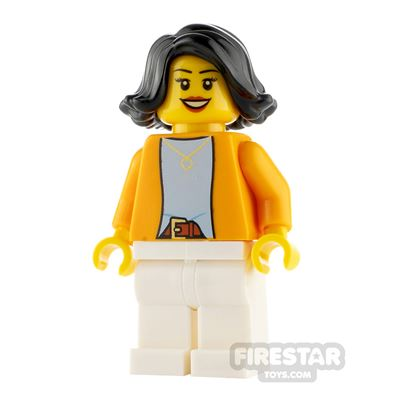 LEGO City Minifigure Woman with Heart Necklace