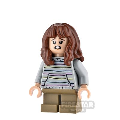 LEGO Harry Potter Minifigure Hermione Granger Gray Hoodie