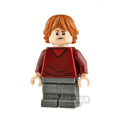 LEGO Harry Potter Minifigure Ron Weasley Dark Red Sweater