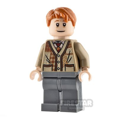 LEGO Harry Potter Minifigure Arthur Weasley Dark Tan Sweater