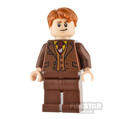 LEGO Harry Potter Minifigure Fred Weasley Reddish Brown Suit