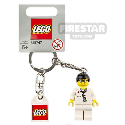 LEGO Key Chain Doctor with Lab Coat