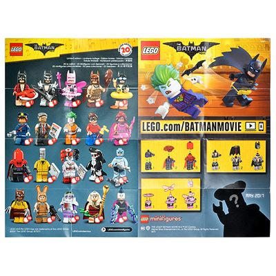 LEGO - Batman Movie Collectable Leaflet