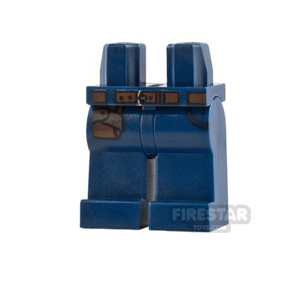 LEGO Mini Figure Legs - Dark Blue with Hip Holster