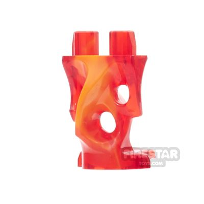 LEGO Mini Figure Legs - Ghost - Trans Red and Orange