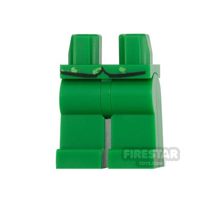 LEGO Mini Figure Legs - Green with Vest Tails