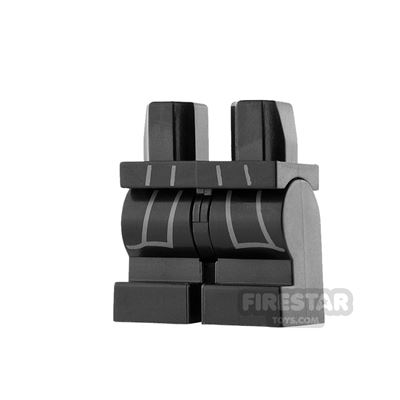 LEGO Mini Figure Legs - Medium - Black with Robe Tails